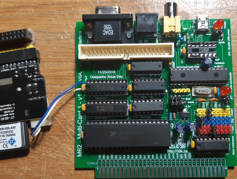 M62 – Multi-Card 1 – VGA, PS/2 Keyboard, and IDE Interface – 39K